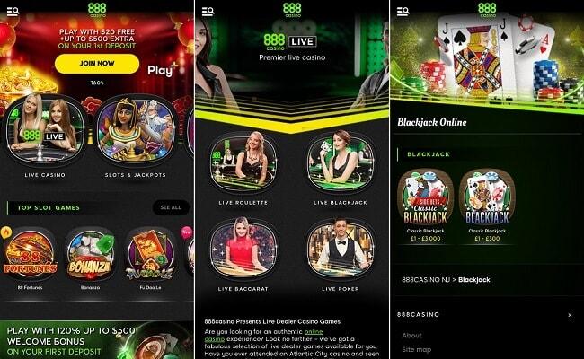 888casino Android app
