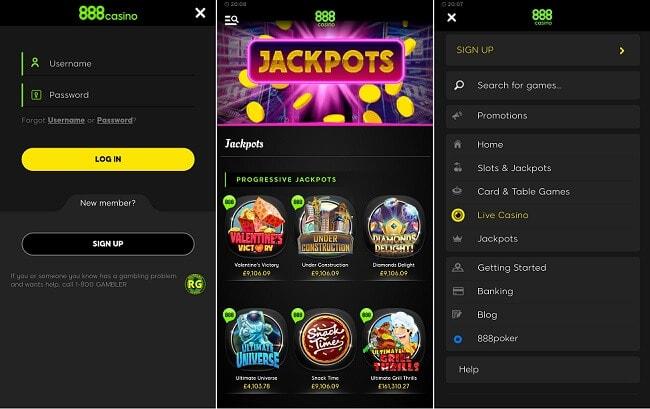 888casino iPhone app