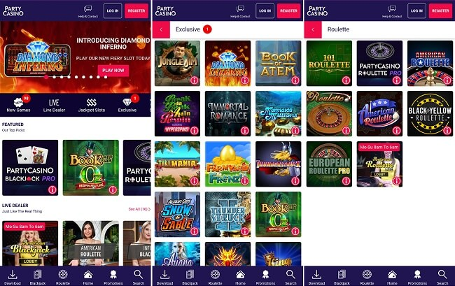 PartyCasino Android app