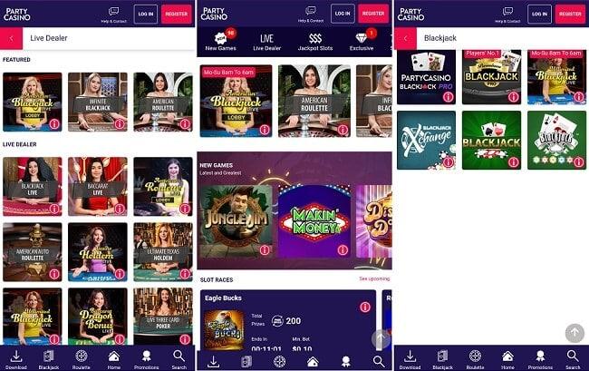 PartyCasino iPhone app