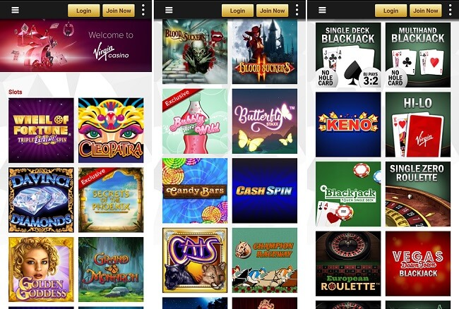 Virgin casino Android app