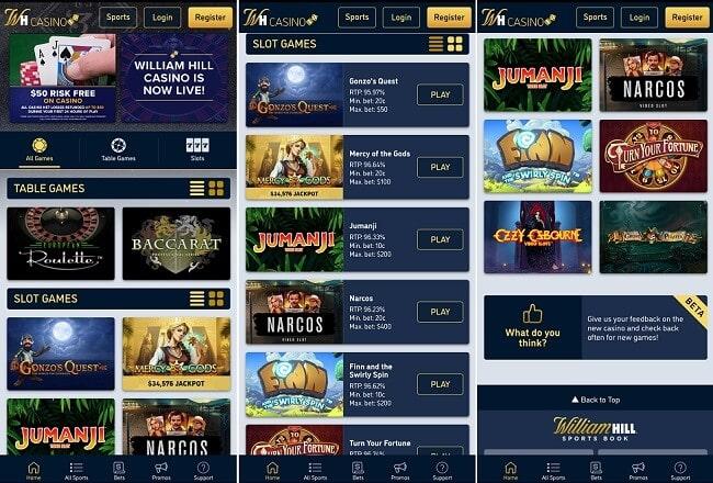William Hill Casino Android app