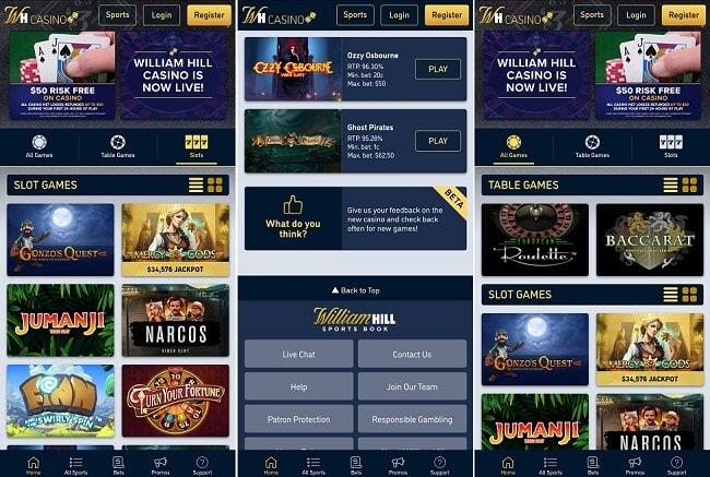 William Hill Casino iPhone app