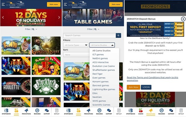 BetRivers Casino Android app