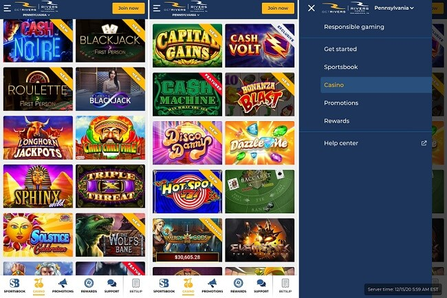 BetRivers Casino iPhone app