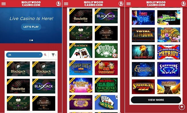 Hollywood casino iPhone app