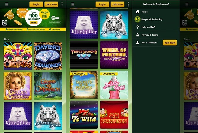 Tropicana Casino iPhone app