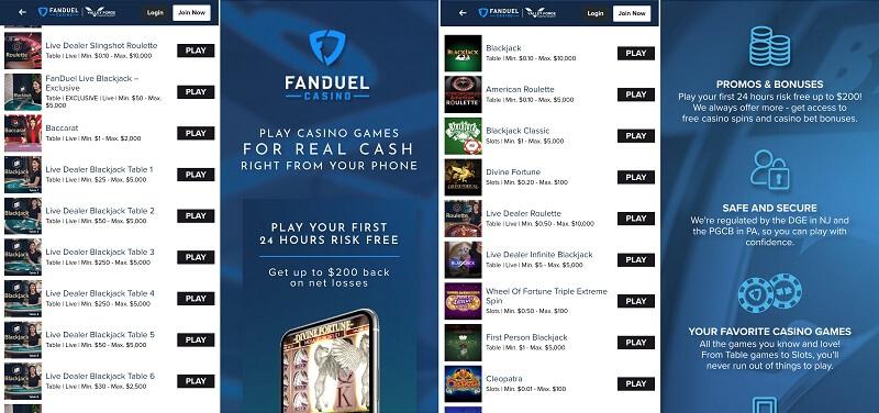 FanDuel Casino Android app