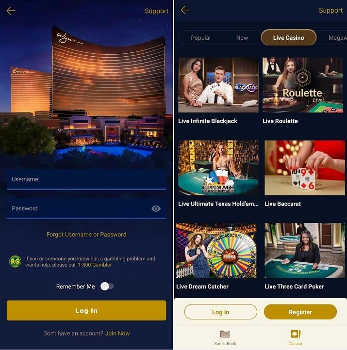 WynnBET Casino Android app