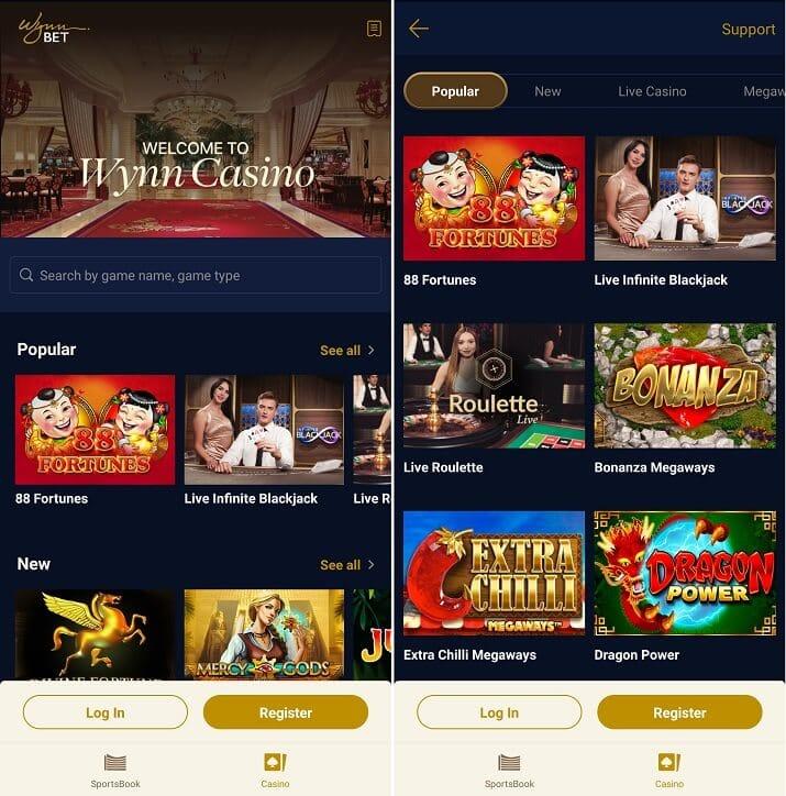 WynnBET Casino iPhone app