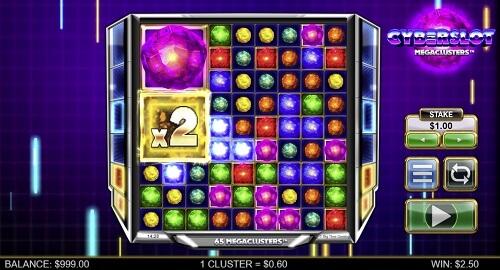 Cyberslot Megaclusters Slot machine game