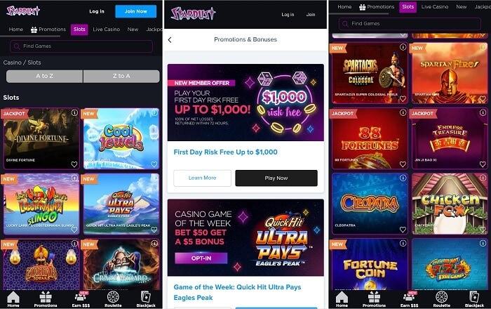 Stardust Casino iPhone app