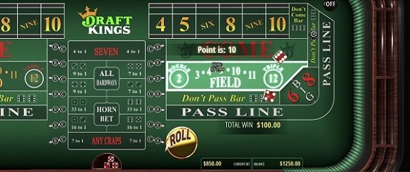 DraftKings Casino online craps NJ